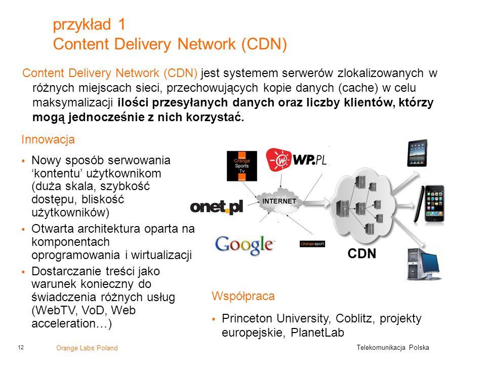 przykład 1 Content Delivery Network (CDN)