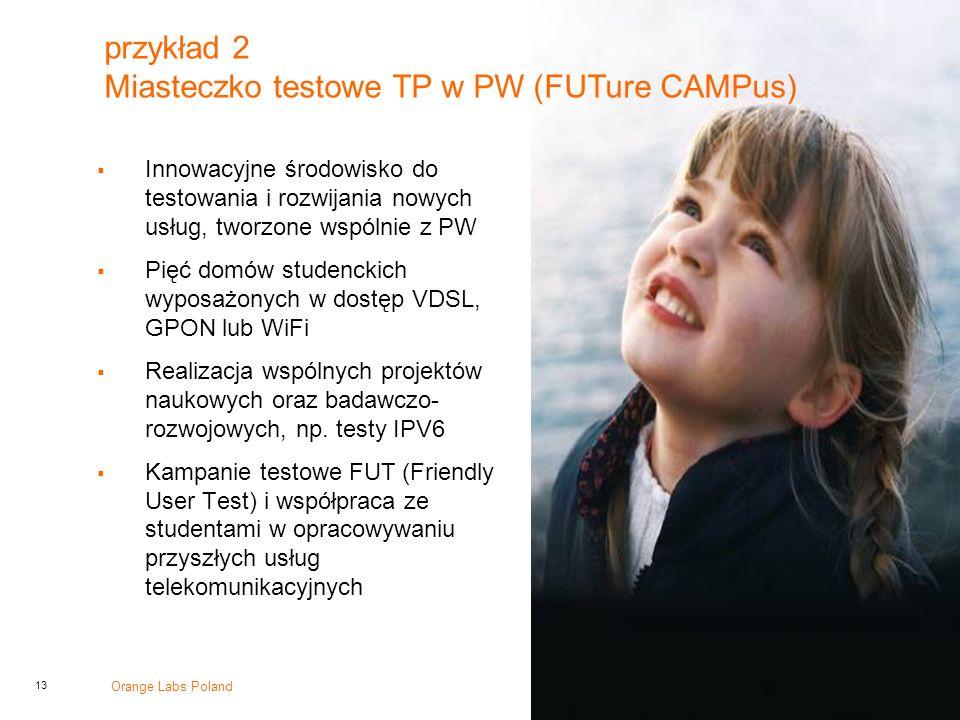 przykład 2 Miasteczko testowe TP w PW (FUTure CAMPus)