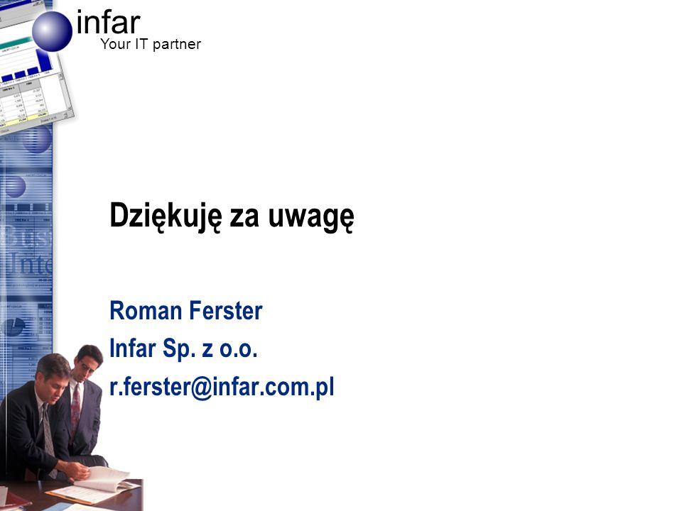 Roman Ferster Infar Sp. z o.o. r.ferster@infar.com.pl