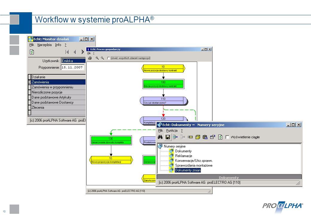 Workflow w systemie proALPHA®