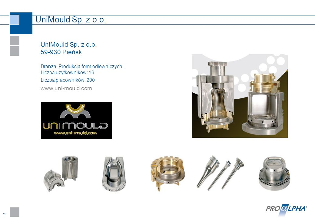UniMould Sp. z o.o. UniMould Sp. z o.o. 59-930 Pieńsk