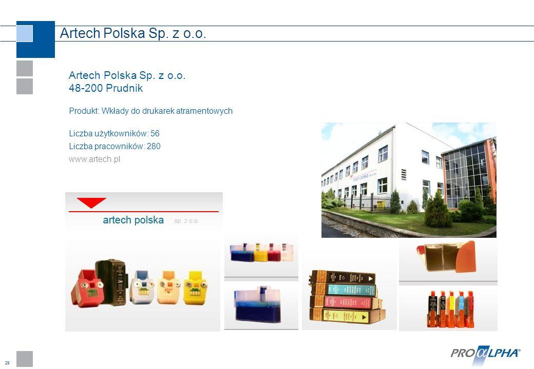 Artech Polska Sp. z o.o. Artech Polska Sp. z o.o. 48-200 Prudnik