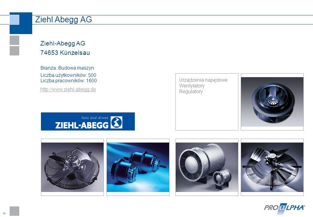 Ziehl Abegg AG Ziehl-Abegg AG 74653 Künzelsau Branża: Budowa maszyn