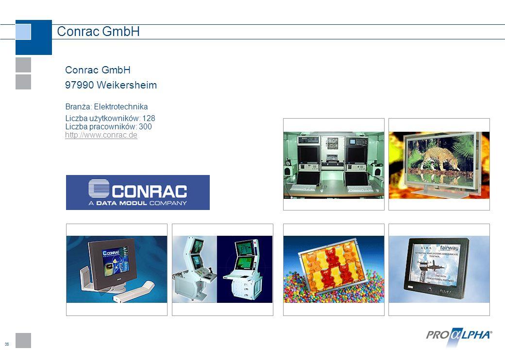 Conrac GmbH Conrac GmbH 97990 Weikersheim Branża: Elektrotechnika