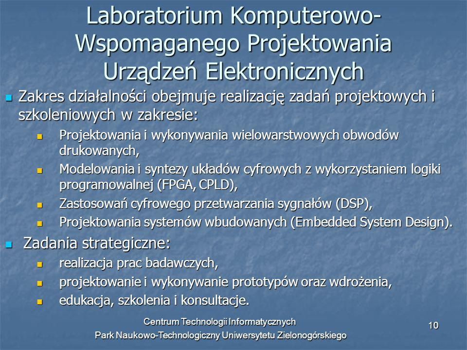 Laboratorium Komputerowo-Wspomaganego Projektowania Urządzeń Elektronicznych