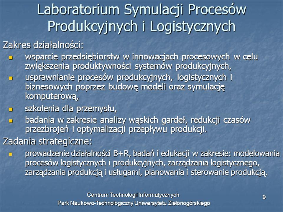 Laboratorium Symulacji Procesów Produkcyjnych i Logistycznych