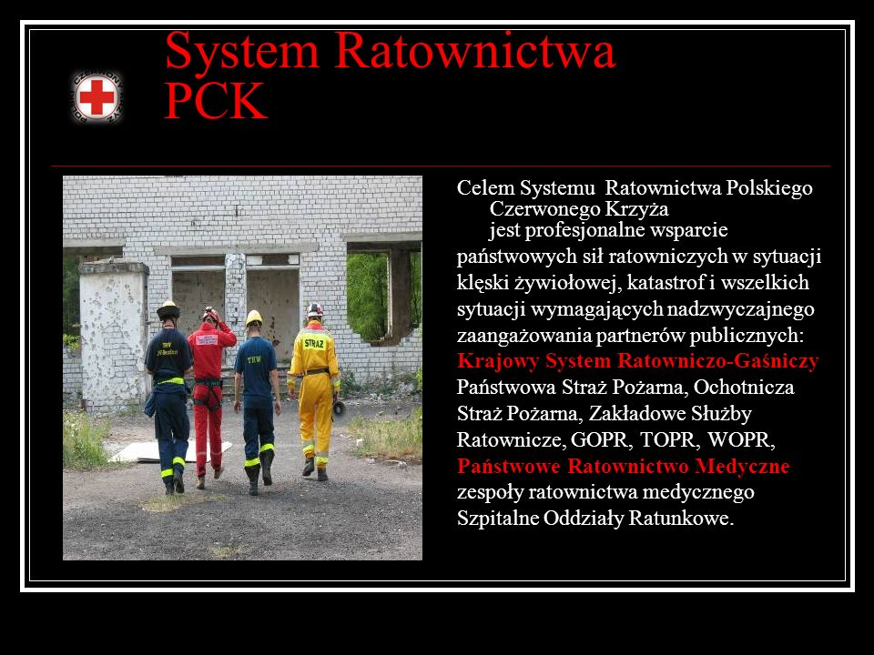 System Ratownictwa PCK