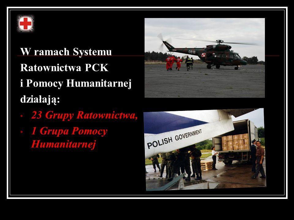 W ramach Systemu Ratownictwa PCK. i Pomocy Humanitarnej.