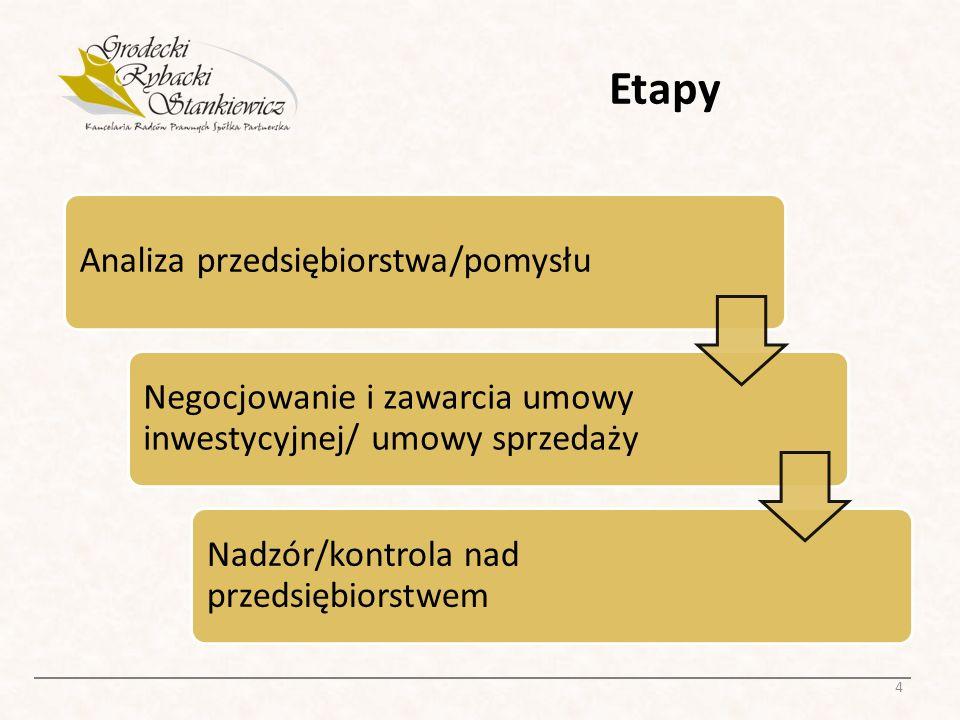 Etapy Analiza przedsiębiorstwa/pomysłu