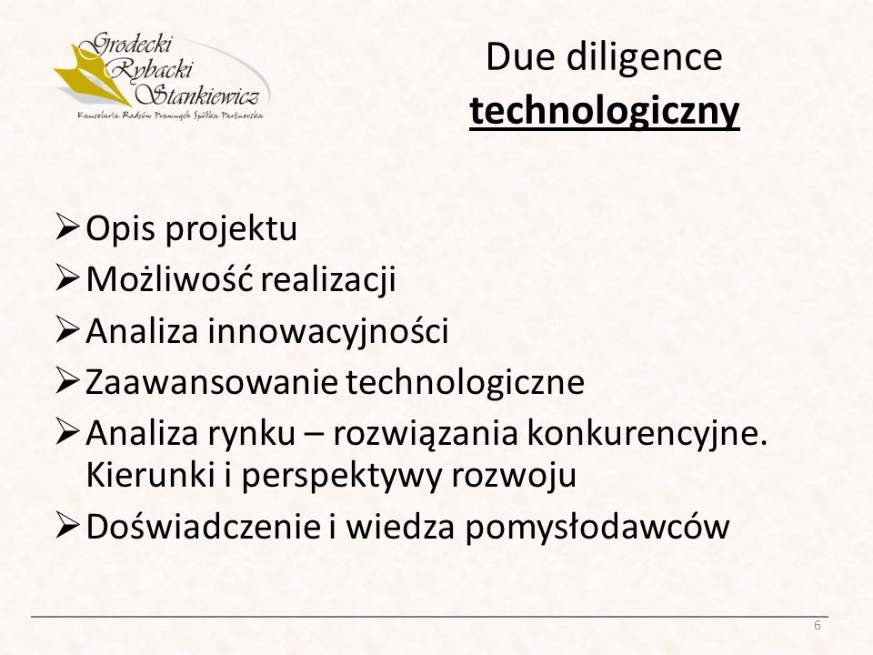 Due diligence technologiczny