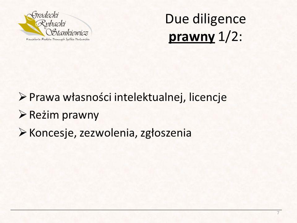 Due diligence prawny 1/2: