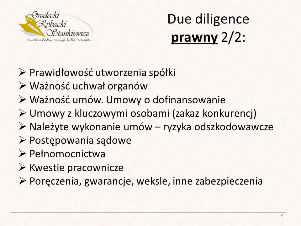 Due diligence prawny 2/2: