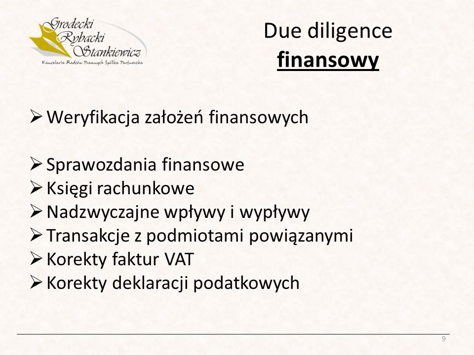 Due diligence finansowy