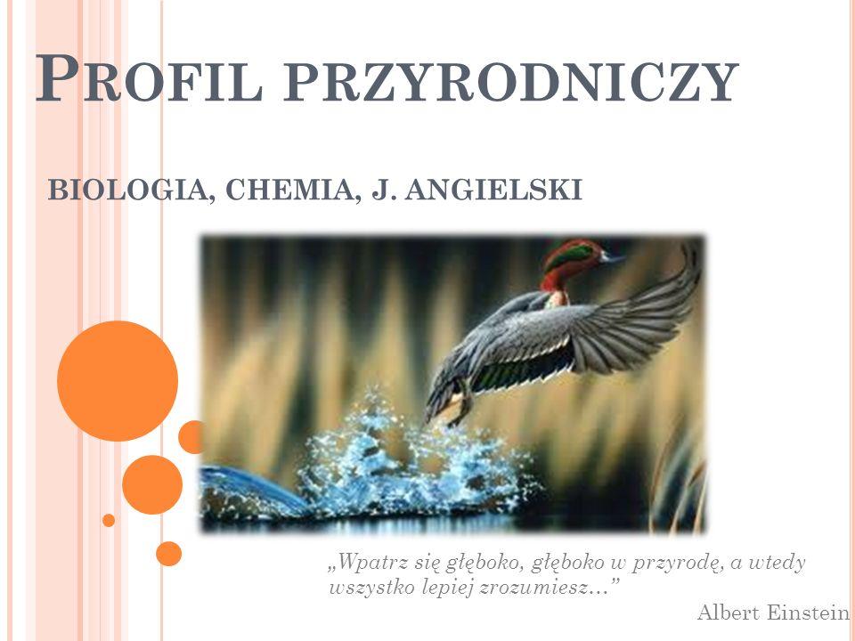 BIOLOGIA, CHEMIA, J. ANGIELSKI