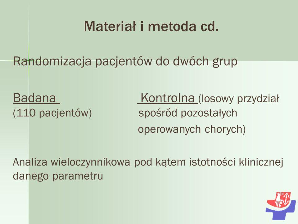 Materiał i metoda cd. 6