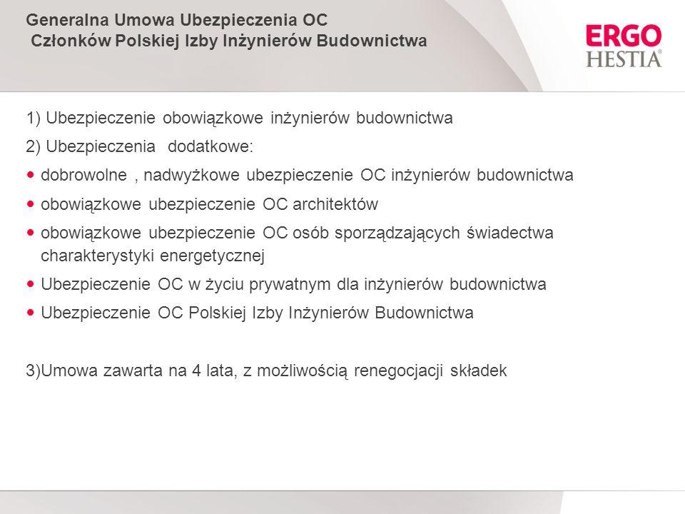 Generalna Umowa Ubezpieczenia OC Członków Polskiej Izby Inżynierów Budownictwa