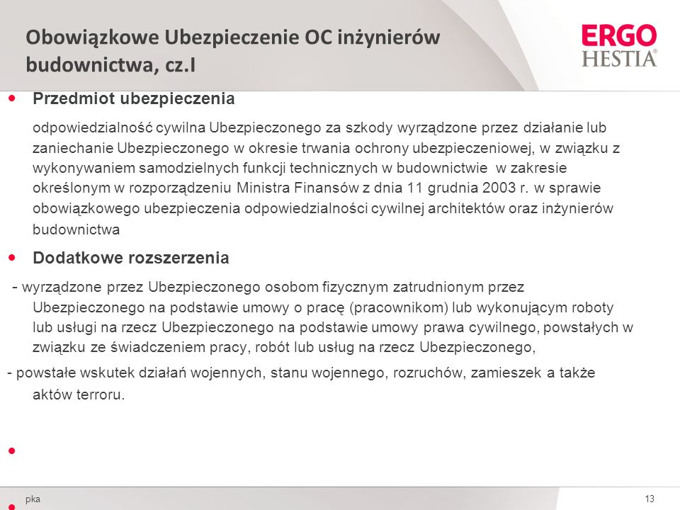 Obowiązkowe Ubezpieczenie OC inżynierów budownictwa, cz.I