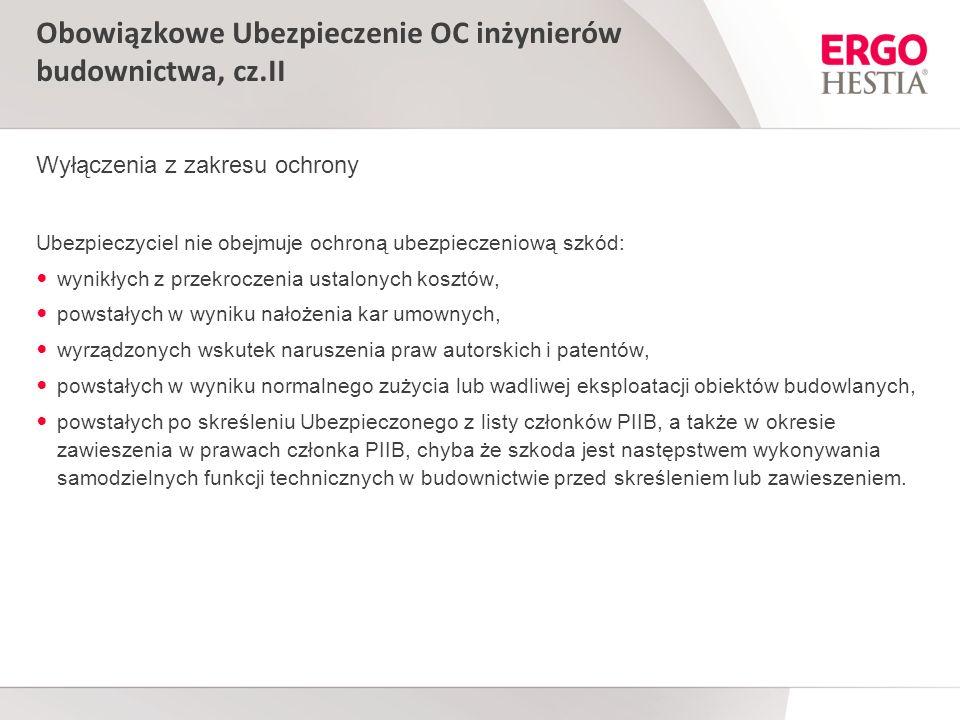 Obowiązkowe Ubezpieczenie OC inżynierów budownictwa, cz.II
