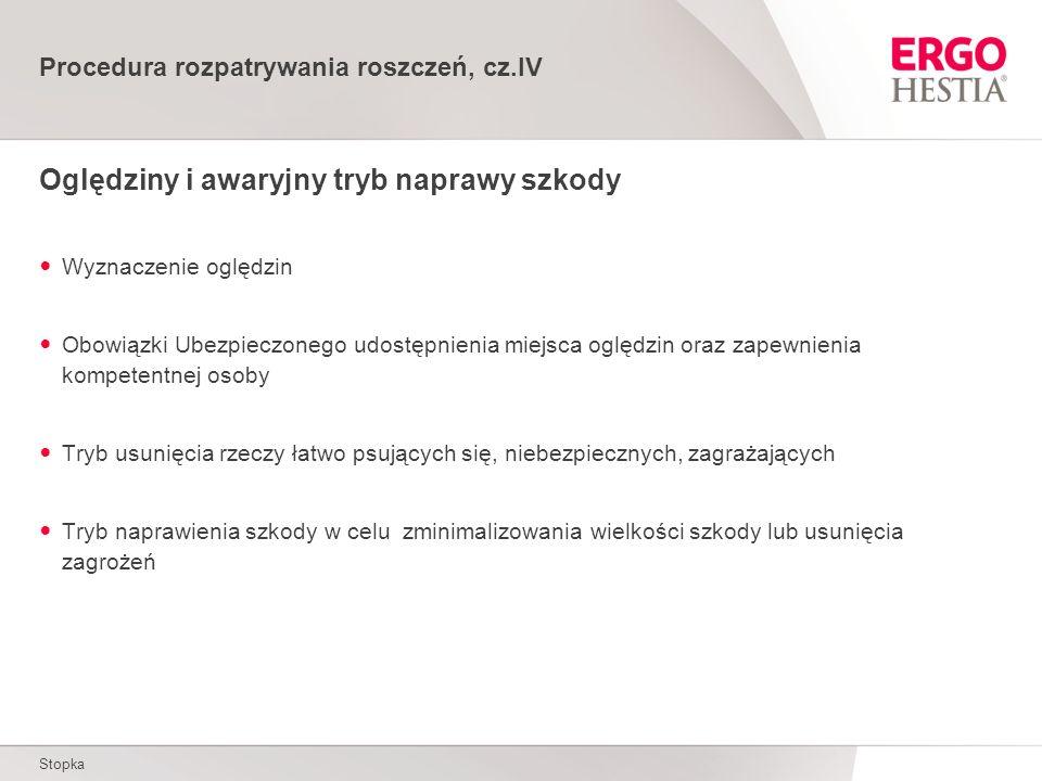 Procedura rozpatrywania roszczeń, cz.IV