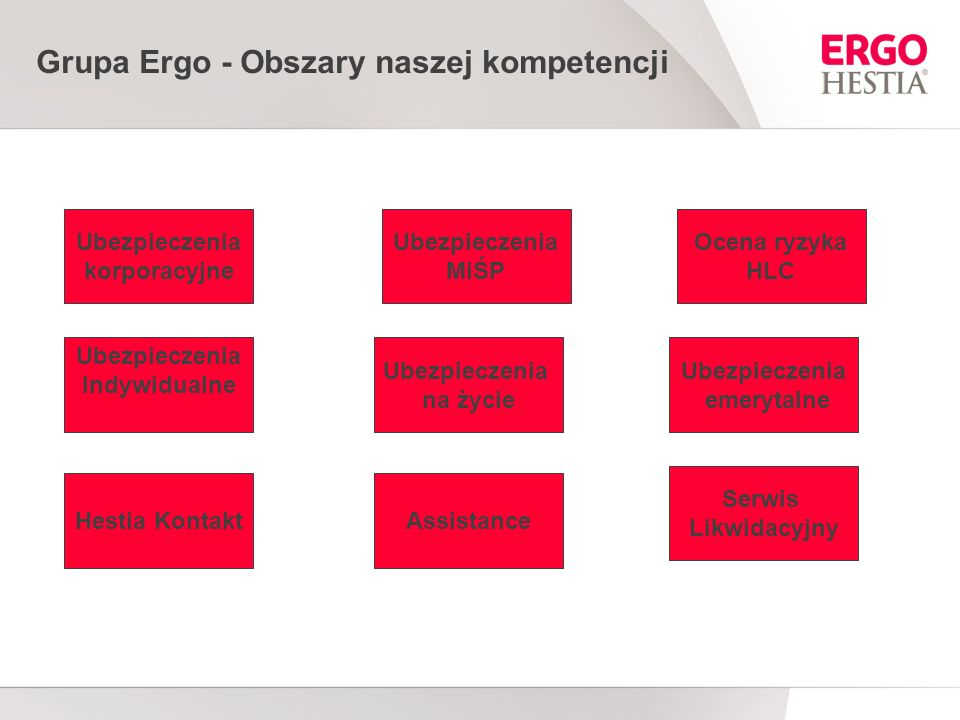 Grupa Ergo - Obszary naszej kompetencji