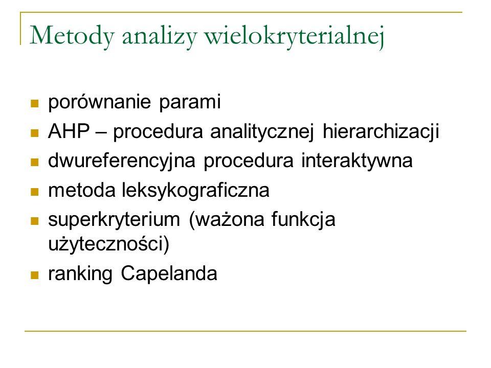 Metody analizy wielokryterialnej