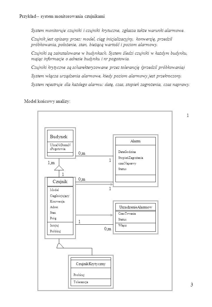 Przykład-- system monitorowania czujnikami