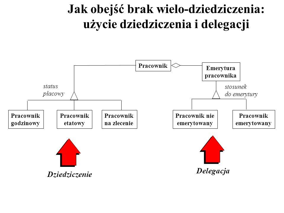 Jak obejść brak wielo-dziedziczenia: użycie dziedziczenia i delegacji