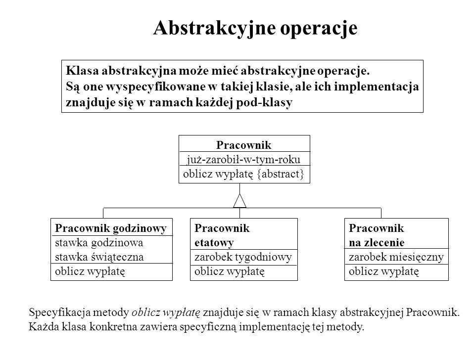 Abstrakcyjne operacje