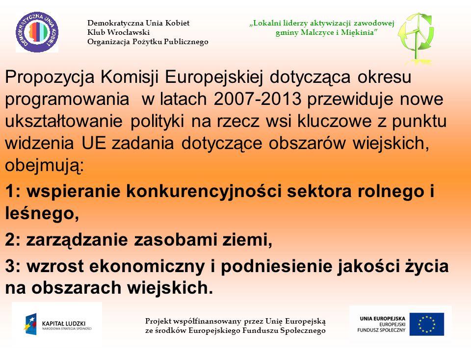 1: wspieranie konkurencyjności sektora rolnego i leśnego,