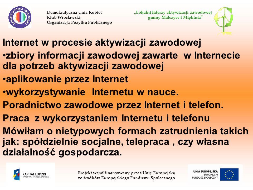 Internet w procesie aktywizacji zawodowej