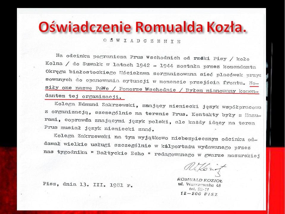 Oświadczenie Romualda Kozła.