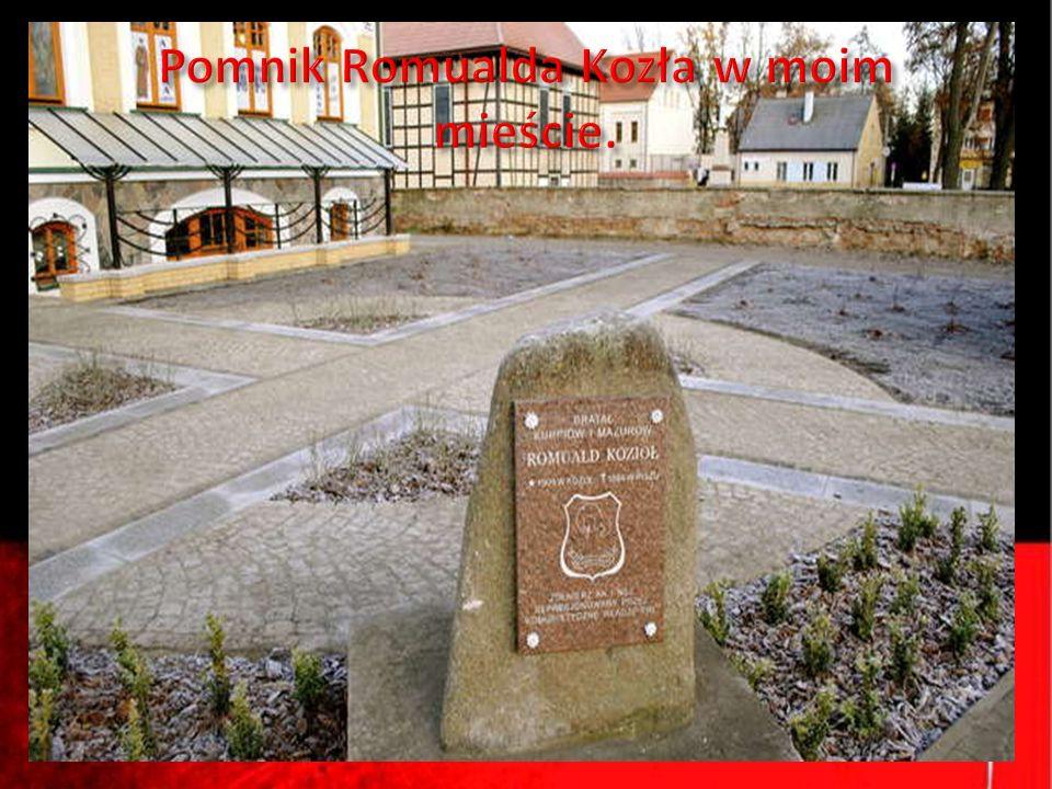 Pomnik Romualda Kozła w moim mieście.