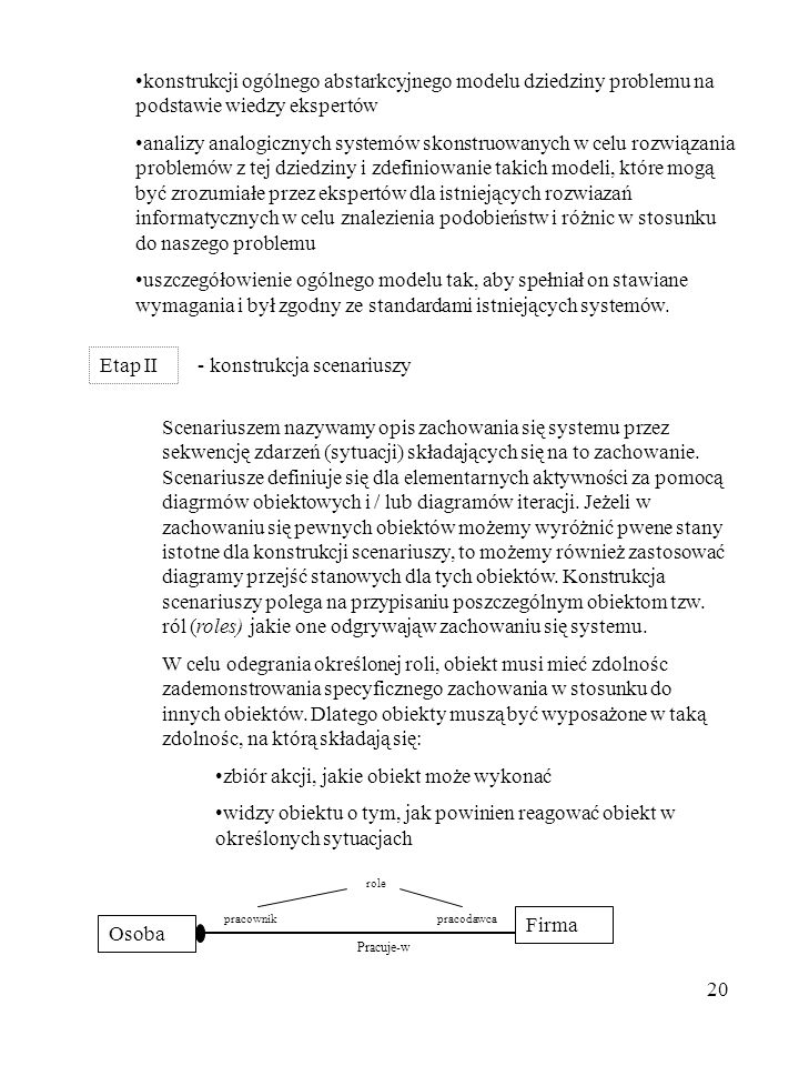 - konstrukcja scenariuszy