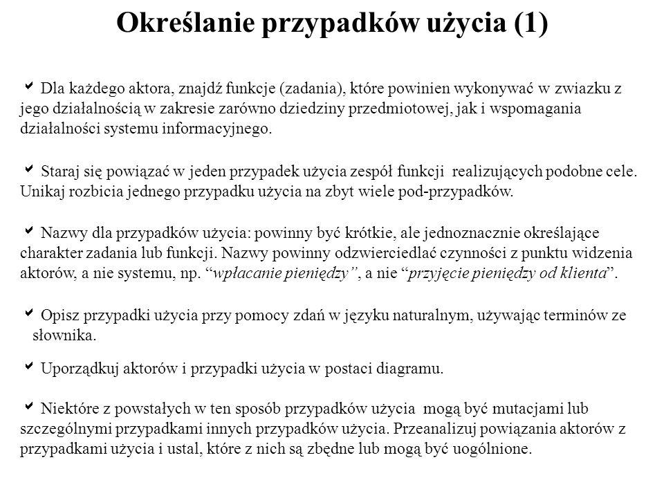 Określanie przypadków użycia (1)