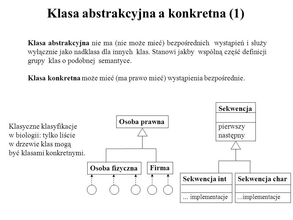 Klasa abstrakcyjna a konkretna (1)