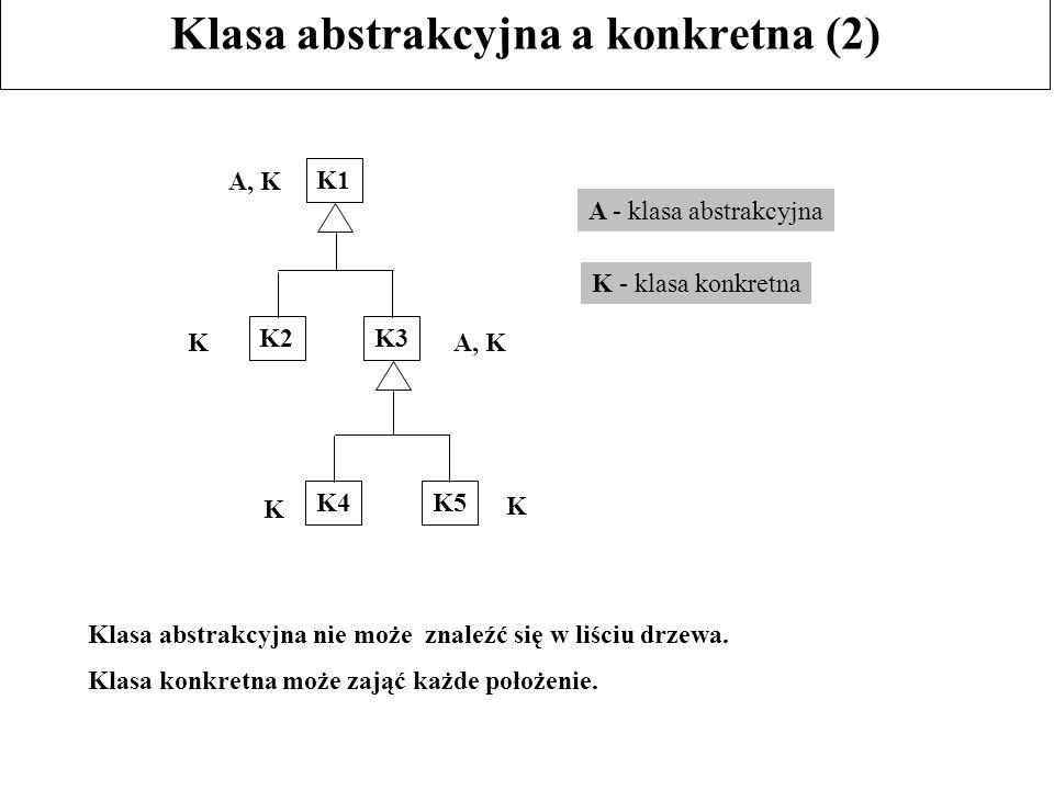 Klasa abstrakcyjna a konkretna (2)