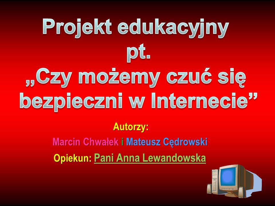 """Projekt edukacyjny pt. """"Czy możemy czuć się bezpieczni w Internecie"""