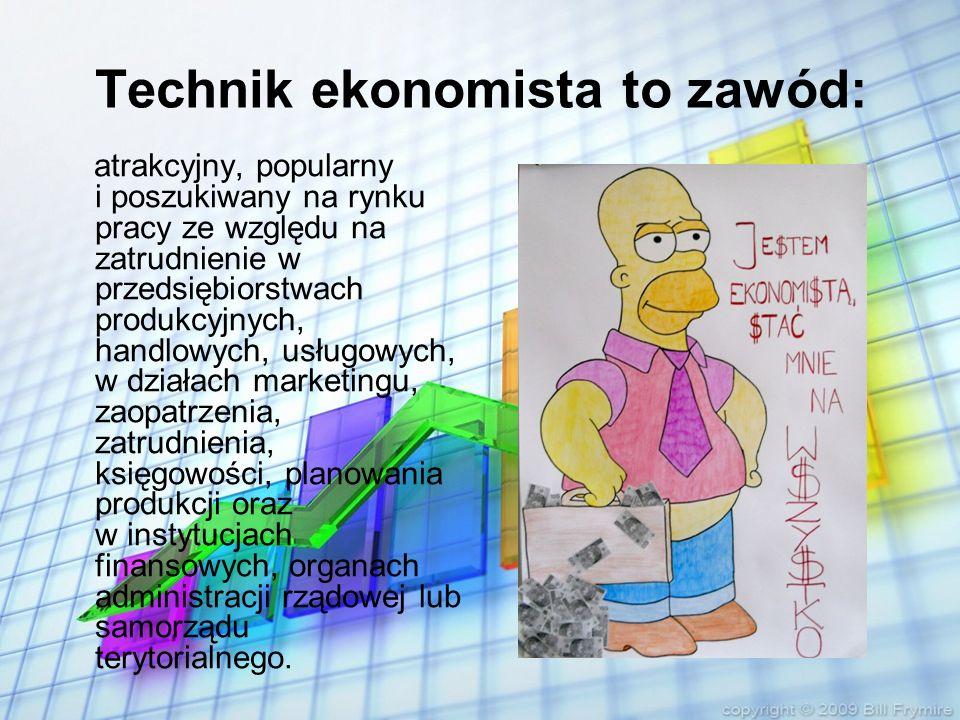 Technik ekonomista to zawód: