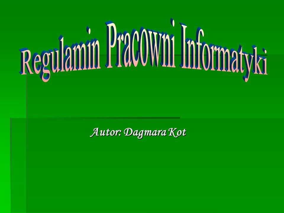 Regulamin Pracowni Informatyki