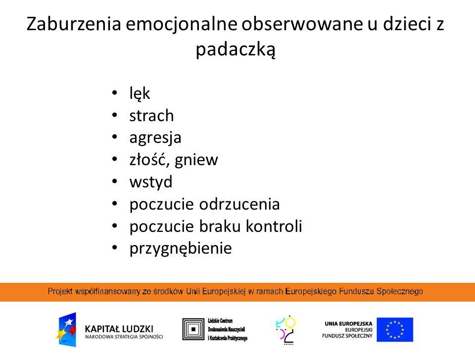 Zaburzenia emocjonalne obserwowane u dzieci z padaczką