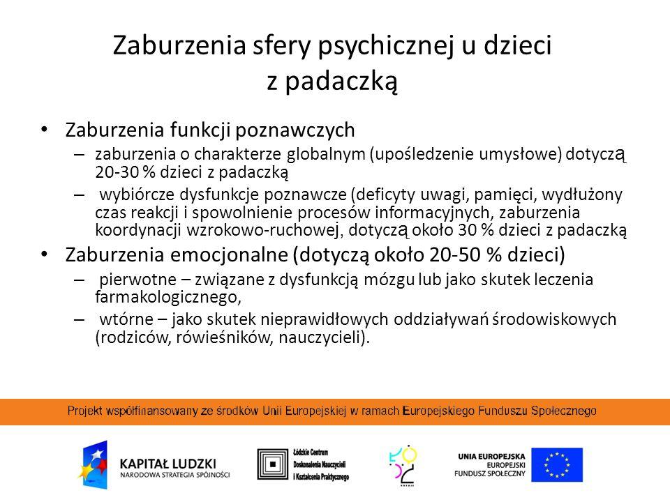 Zaburzenia sfery psychicznej u dzieci z padaczką