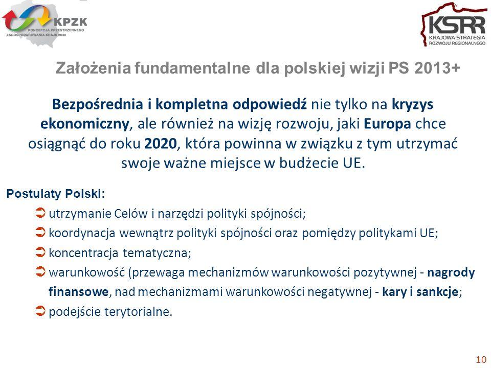 Założenia fundamentalne dla polskiej wizji PS 2013+