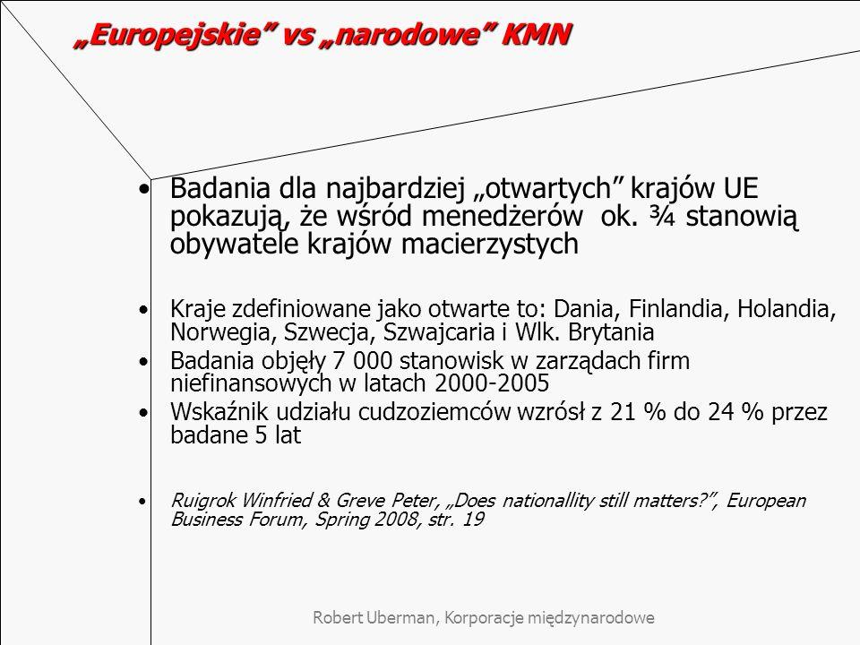"""""""Europejskie vs """"narodowe KMN"""