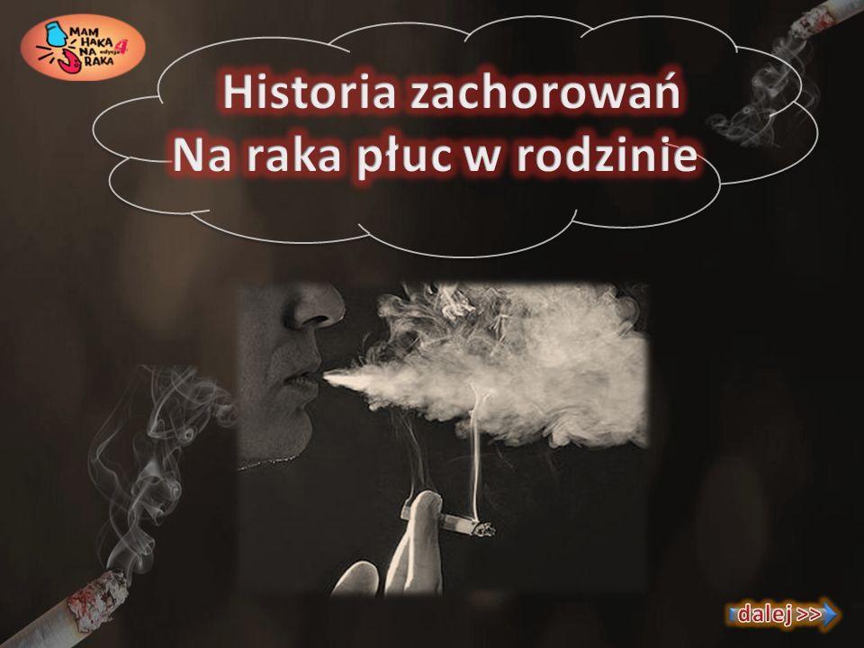 Historia zachorowań Na raka płuc w rodzinie dalej >>