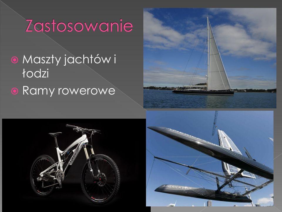 Zastosowanie Maszty jachtów i łodzi Ramy rowerowe