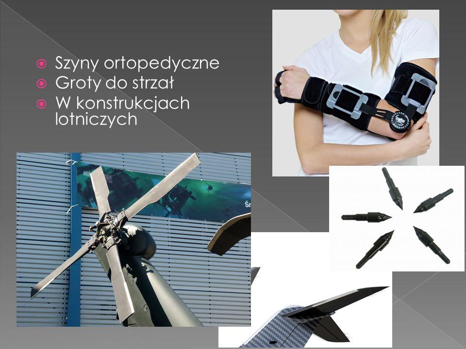 Szyny ortopedyczne Groty do strzał W konstrukcjach lotniczych