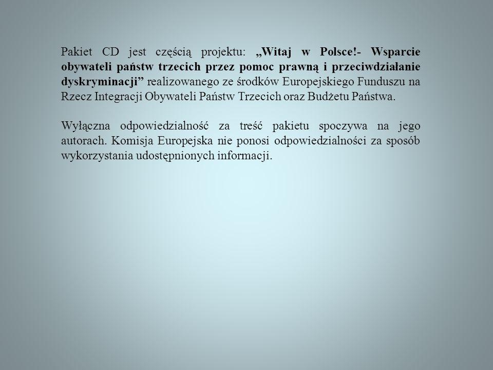 """Pakiet CD jest częścią projektu: """"Witaj w Polsce"""