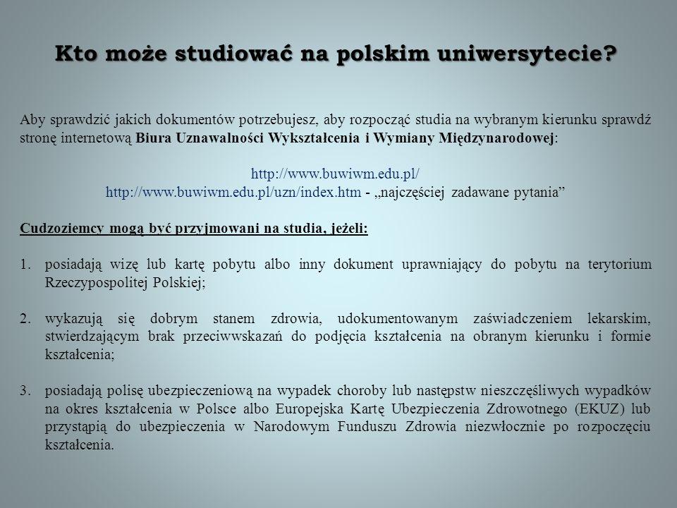 Kto może studiować na polskim uniwersytecie