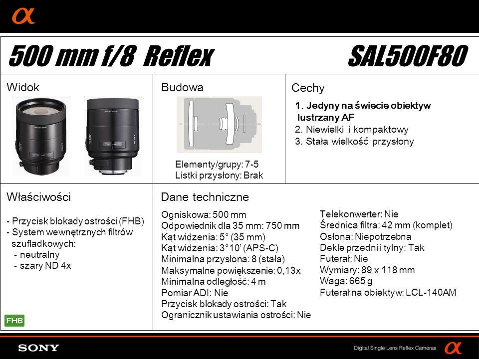 500 mm f/8 Reflex SAL500F80 Widok Budowa Cechy Właściwości