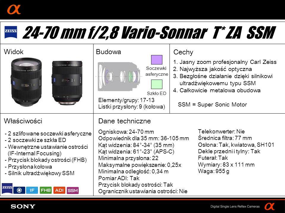 24-70 mm f/2,8 Vario-Sonnar T* ZA SSM